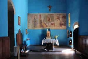 Inside the chapel of the Eremo di SanPietro. (Photo: © Henri Craemer)