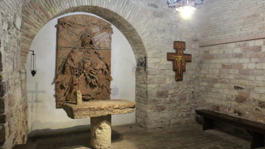 What remains of the house where St Francis was born. (Photo: © Henri Craemer)