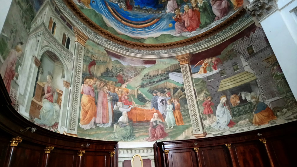 Frescoes of Santa Maria Assunta by Filippo Lippi from left to right: the Annunciation; the Dormition of the Virgin, and the Nativity. (Photo: © Henri Craemer)