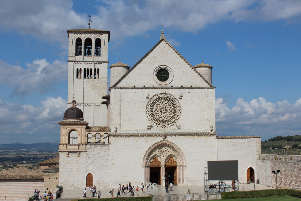 Basilica di San Francesco, end of the second phase of the Way of St Francis. (Photo: © Henri Craemer)