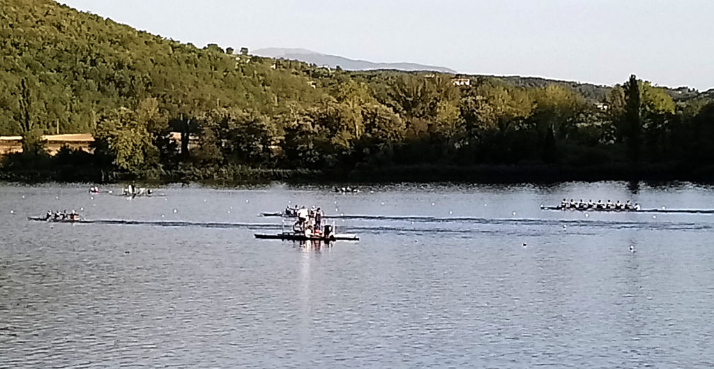Italian National rowing team practice. (Photo: © Henri Craemer)
